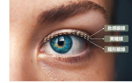 眼線位置區分